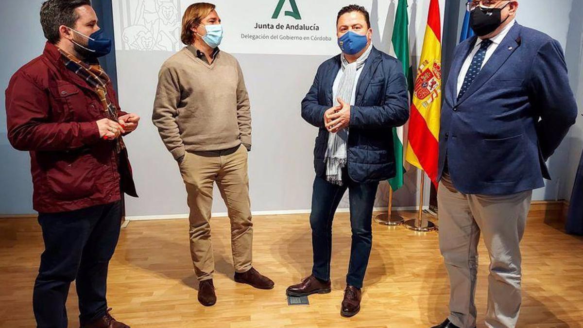 Reunión de los alcaldes con el delegado del Gobierno andaluz.