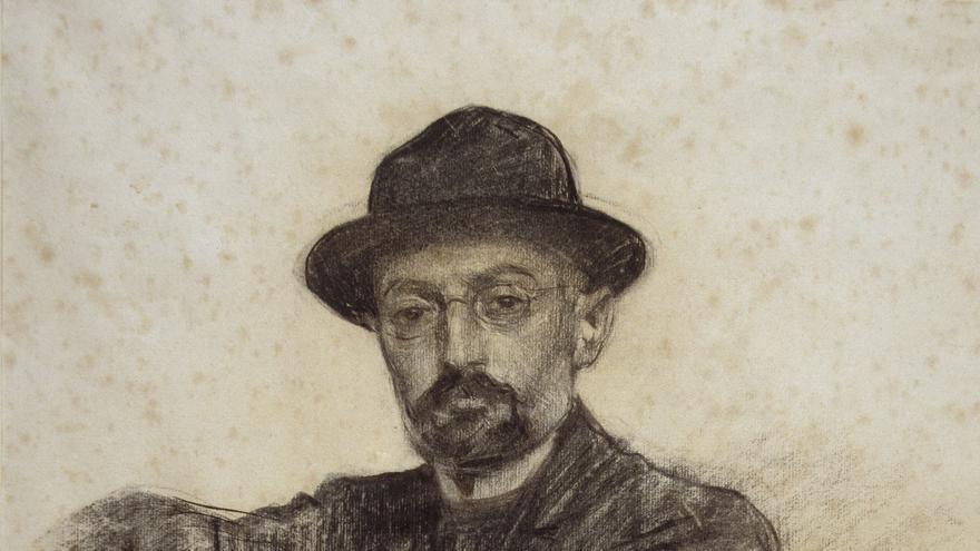 Retrato de Unamuno realizado por Ramón Casas y conservado en el Museo Nacional de Arte de Cataluña