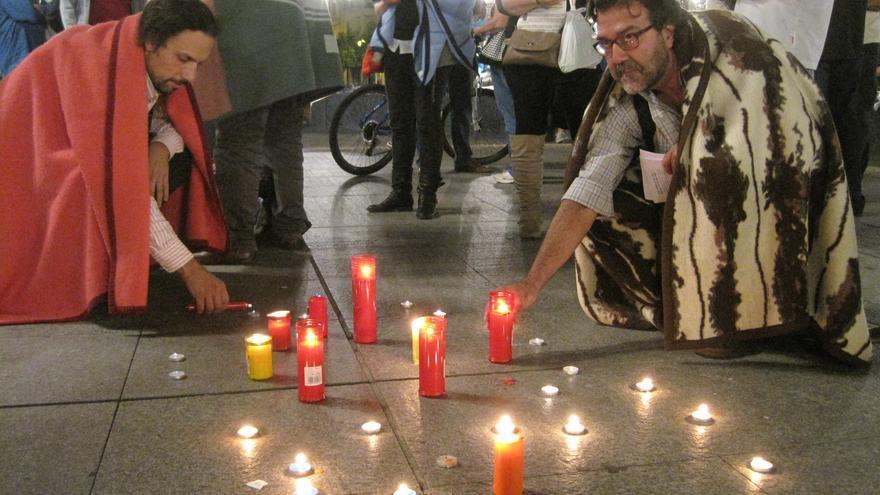 Participantes en la acción contra la pobreza energética en Córdoba.