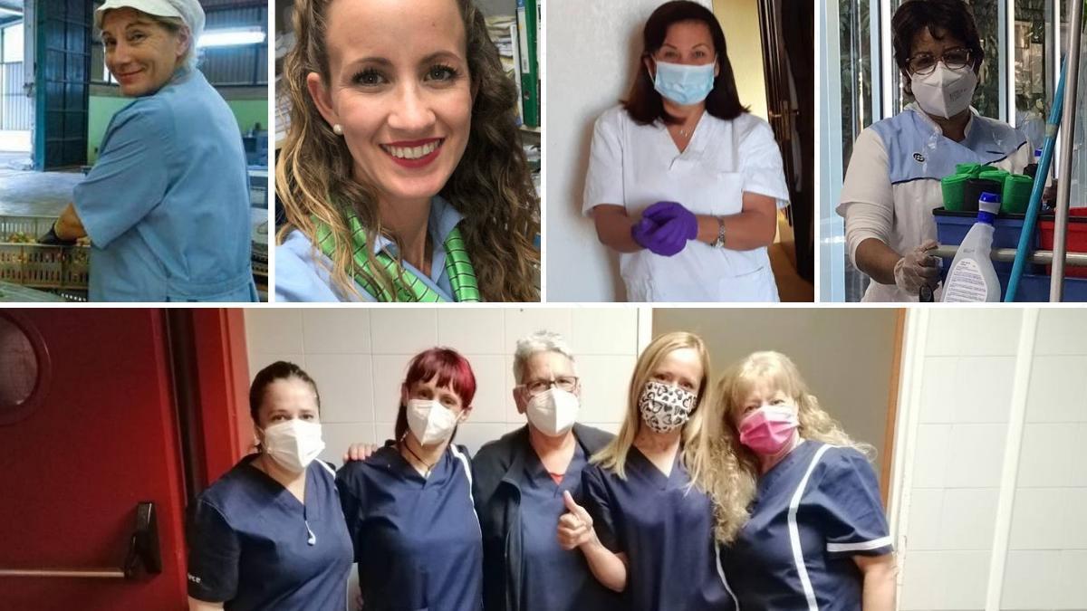 María, Sonia, Loreta, Milagros y Soraya, las mujeres que sostienen el sistema.