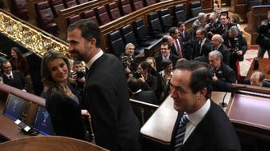 El Príncipe de Asturias y Doña Letizia