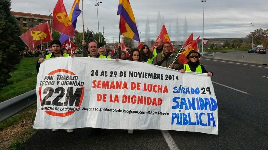 Acción de la Asamblea de Toledo de las Marchas de la Dignidad