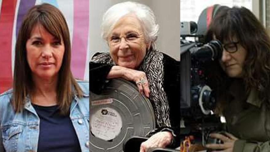 La Asociación de Mujeres Cineastas y de Medios Audiovisuales (CIMA), que lucha por la igualdad en el sector, estará presente en el FesTVal. De izquierda a derecha: Icíar Bollaín, Mabel Lozano, Josefina Molina, Isabel Coixet y María Ripoll.
