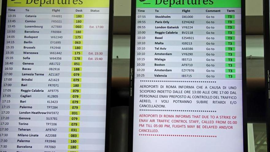 La huelga del sector aéreo en Italia puede afectar más de 500 vuelos europeos