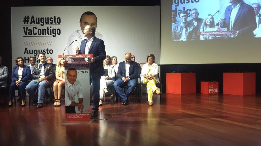 Augusto Hidalgo, en la presentación oficial de su candidatura. (PSOE)