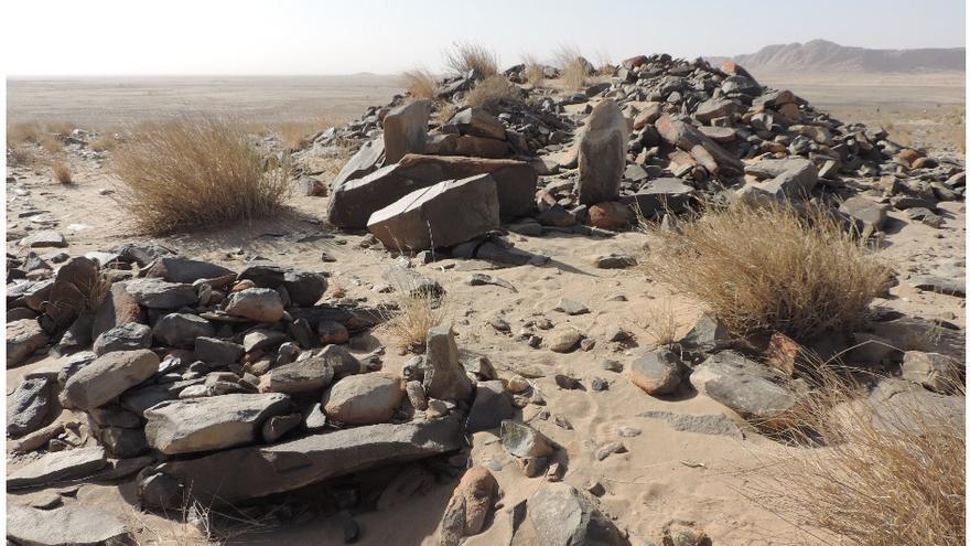 Varios túmulos de diferentes tamaños, tipología y antigüedad.