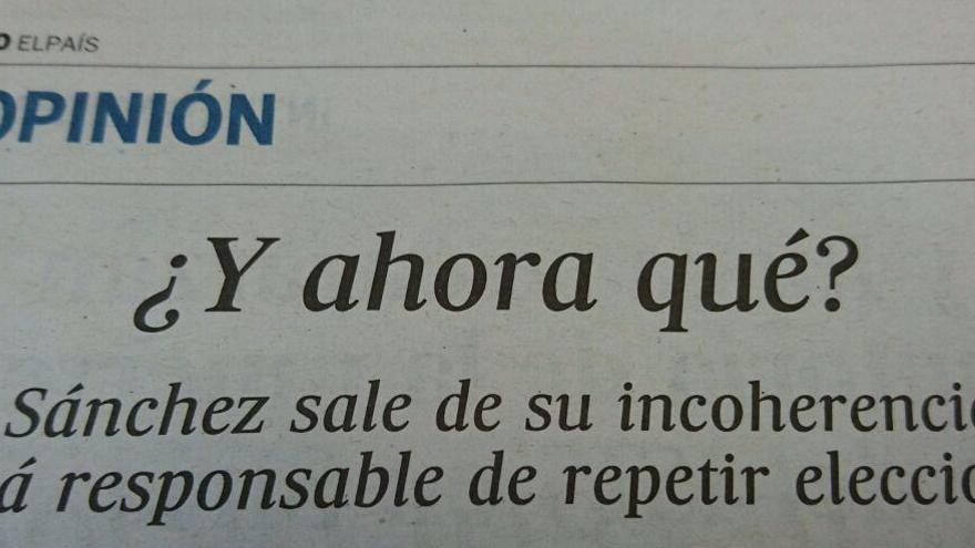 Editorial de El País