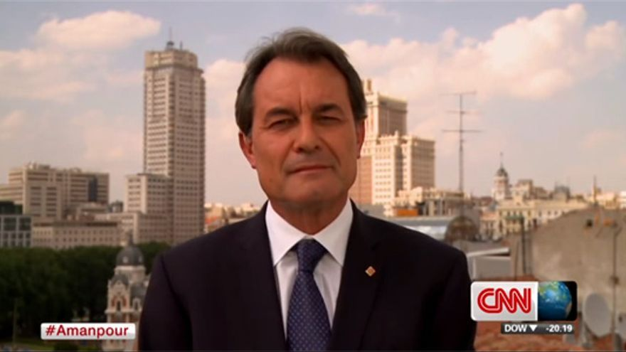 Polémica entrevista a 'Arturo' Mas en la CNN americana