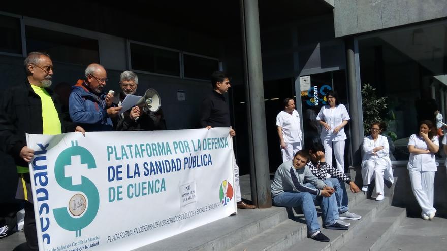Concentración de la Plataforma por la Sanidad Pública