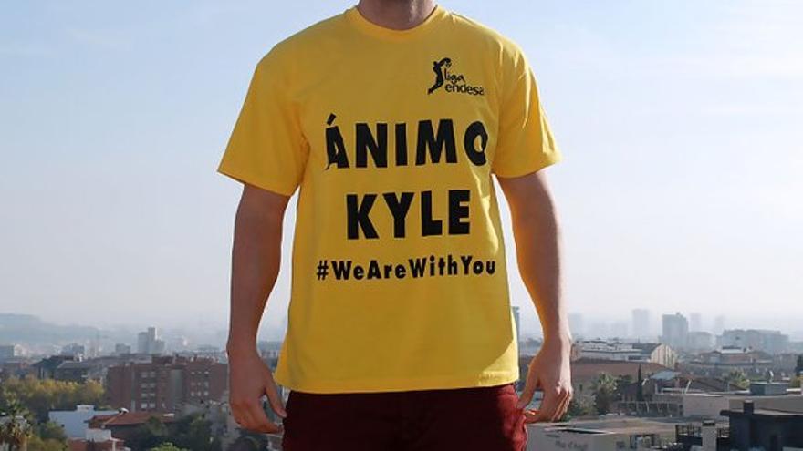 Camiseta de apoyo al escolta estadounidense del Herbalife Gran Canaria. (twitter oficial ACB).