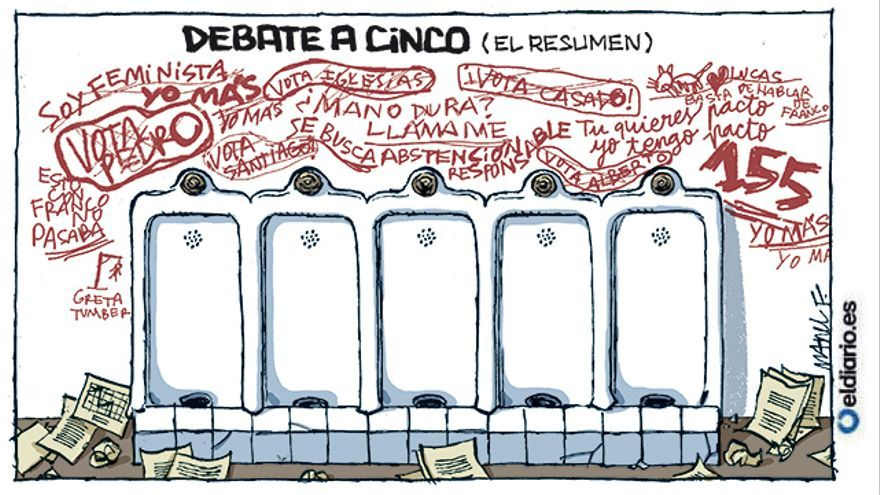 Debate a cinco