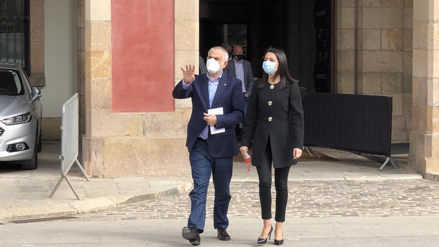 La presidenta de Cs, Inés Arrimadas, y el líder de Cs en Catalunya, Carlos Carrizosa