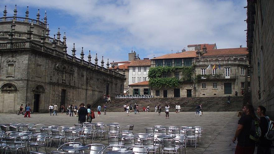 Praza da Quintana, en Santiago de Compostela