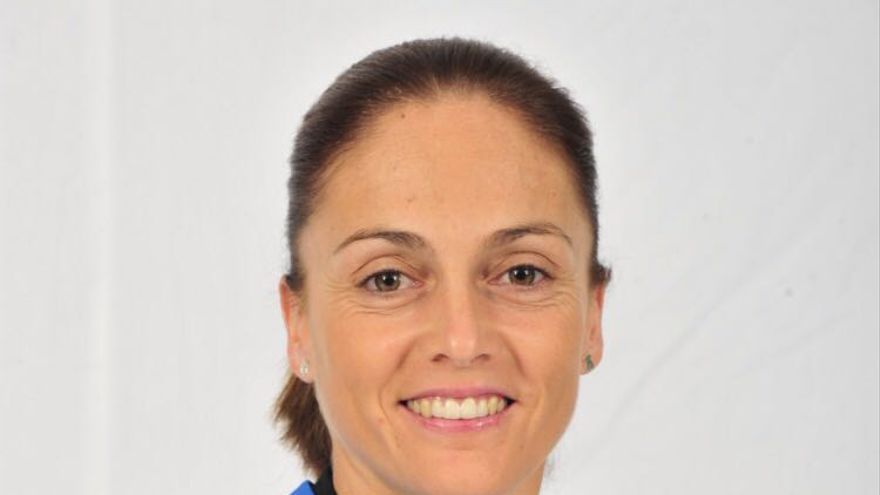 La valenciana Silvia Navarro, portera de la selección española de balonmano femenino