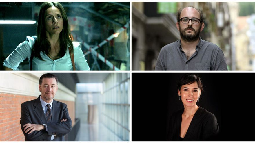 Itziar Ituño, Borja Cobeaga, Miguel Zugaza y Edurne Portela