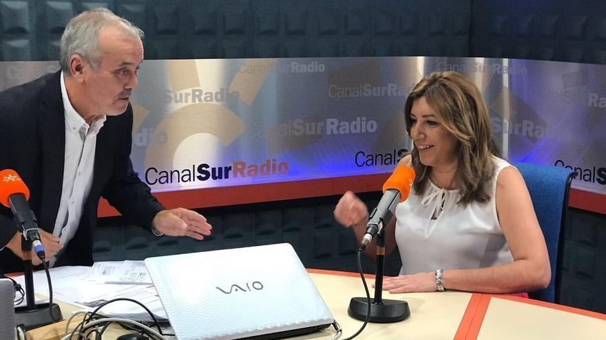 """Susana Díaz afirma que el PSOE no necesita """"depender ni de Podemos ni de IU"""" para gobernar en España o Andalucía"""