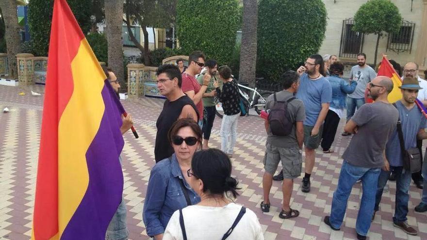 Un acto republicano en el centro de Ayamonte.