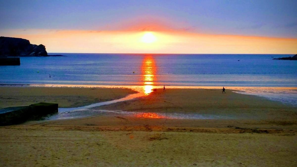 Vista de la playa de Plentzia