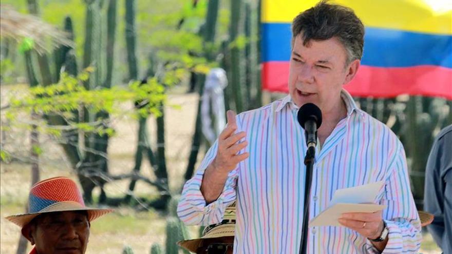 Santos dice que se han incautado 238 toneladas de coca este año en Colombia