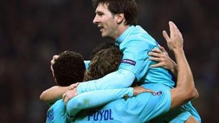 El Milan no se lo puso fácil al Barça. (EUROPA PRESS)