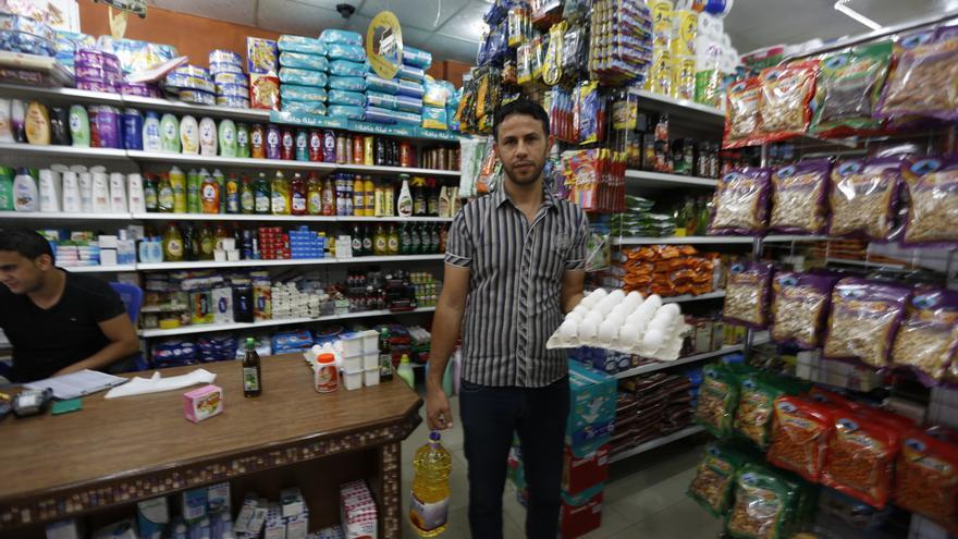 Pocas tiendas han logrado permanecer abiertas en Gaza tras el conflicto/Oxfam
