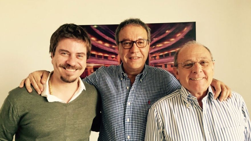 Manuel Juliá con Emilio Gutiérrez Caba y Javier Collado / Foto: FENAVIN