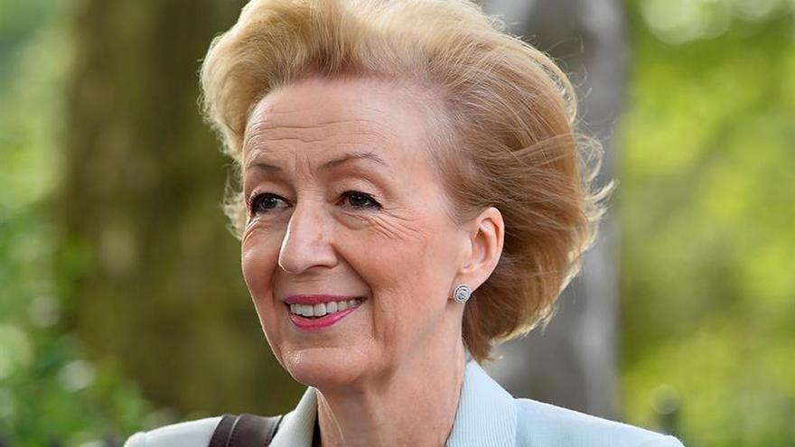 Andrea Levinston es la ministra que muchos señalan como posible sucesora de Cameron, a pesar de que Theresa May tiene el apoyo mayoritario del partido.