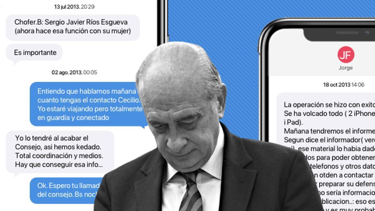 Los mensajes que implican a Fernández Díaz en el espionaje a Bárcenas
