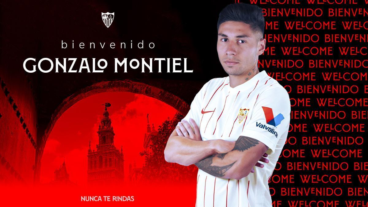 Sevilla presentó a Gonzalo Montiel.