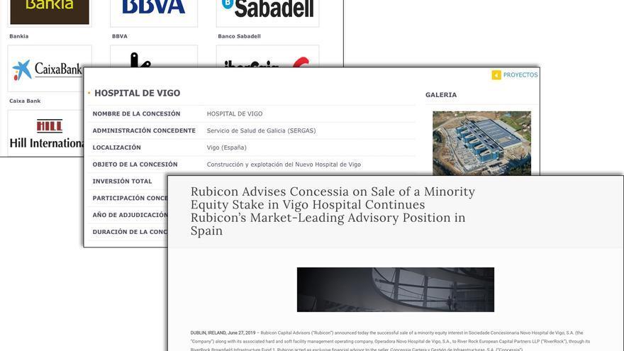Comunicado de Rubicon Capital sobre la operación en Vigo y referencias de Concessia al hospital vigués y a su accionariado