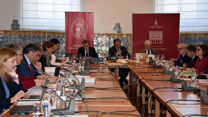 Reunión del Consejo Social de la Universidad, este miércoles.
