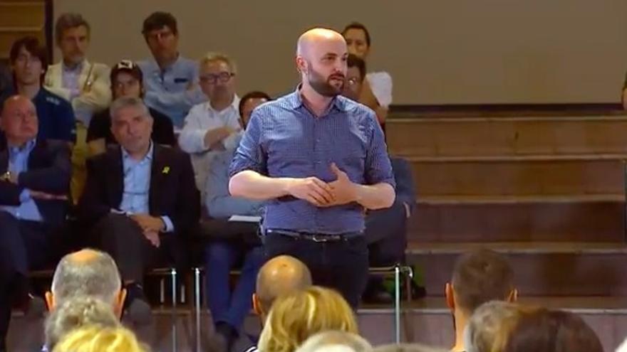 Jordi Graupera, en un acto esta semana en Cotxeres de Sants