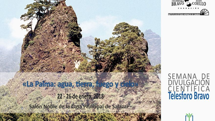 Cartel de la primera 'Semana de Divulgación Científica' sobre la riqueza la natural de La Palma.