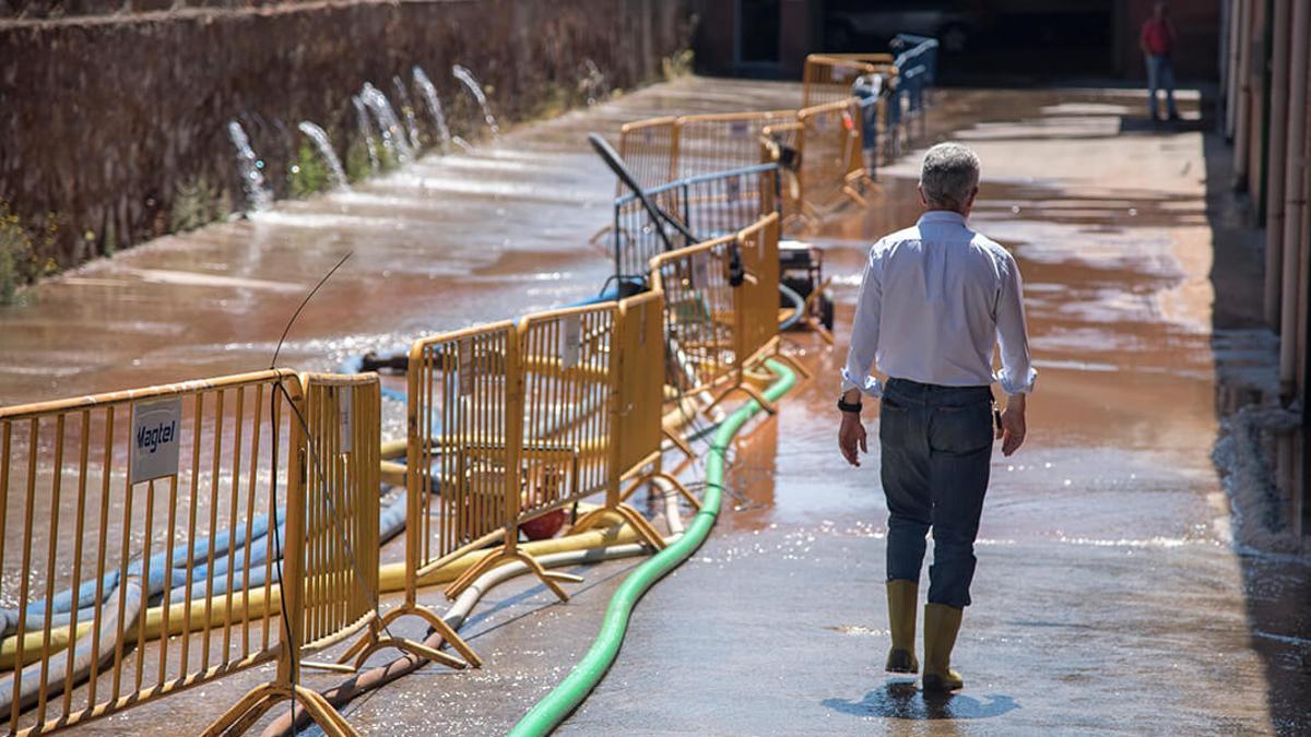 Una fuga del canal del Guadalmellato inundó parte de Chinales hace años