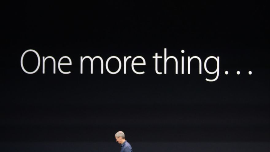 "El clásico ""One more thing"" de Apple"