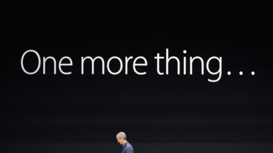 """El clásico """"One more thing"""" de Apple"""