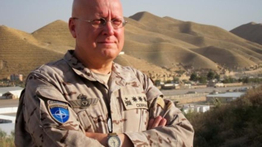 El coronel Luis Cebrián, jefe del contingente español en Afganistán