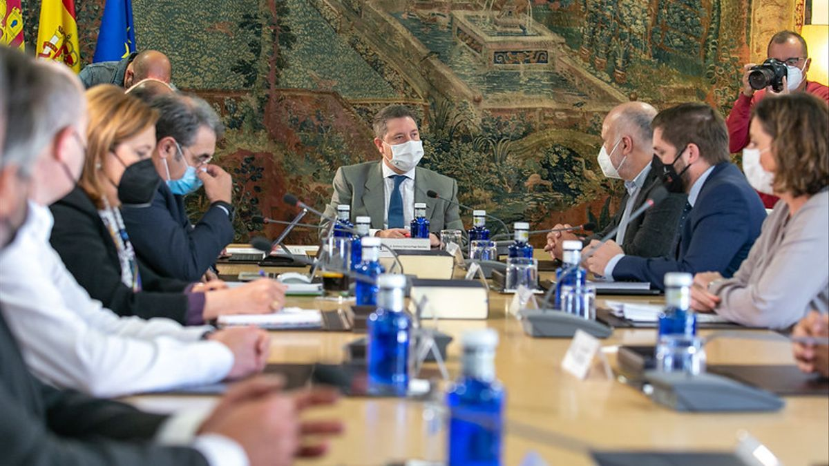 Una imagen del Consejo de Gobierno de Castilla-La Mancha en este 4 de mayo de 2021