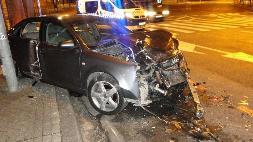 Cinco detenidos en Pamplona por dar positivo en alcohol tras sufrir accidentes