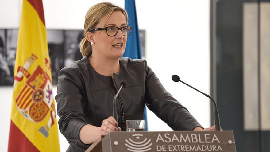 Blanca Martín, presidenta de la Asamblea de Extremadura