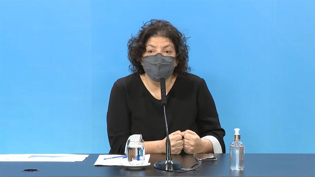 La ministra de Salud, Carla Vizzotti