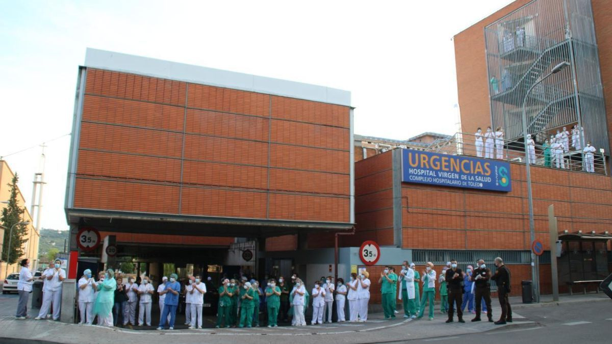 Aplauso sanitario en Toledo