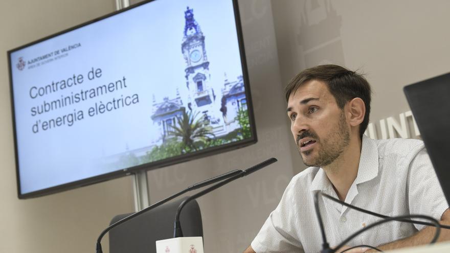 El concejal de Gobierno Interior, Sergi Campillo