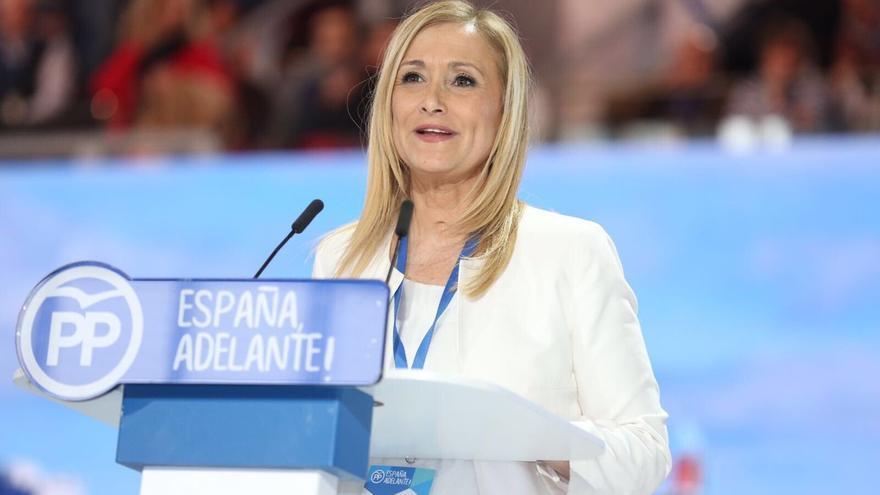 Cristina Cifuentes, durante su intervención en la apertura del 18 Congreso Nacional del PP.