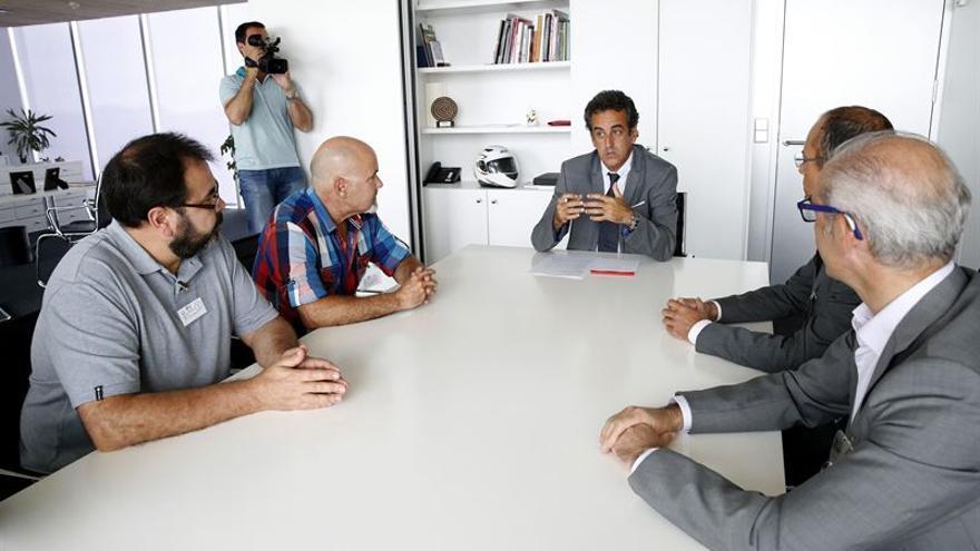 Francisco Martín ha recibido al comité de empresa y los administradores concursales de Greyco. | Foto: LARA REVILLA