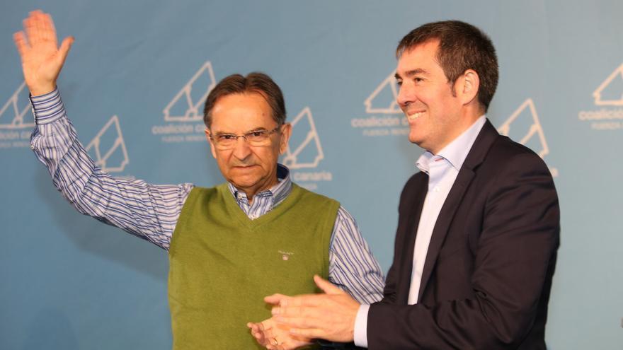 Antonio Castro y Fernando Clavijo, este domingo. Foto: NOVA FOTO