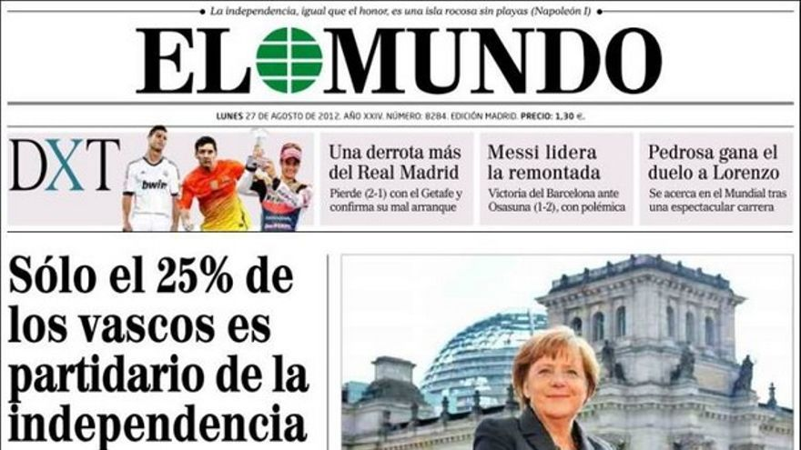 De las portadas del día (27/08/2012) #7
