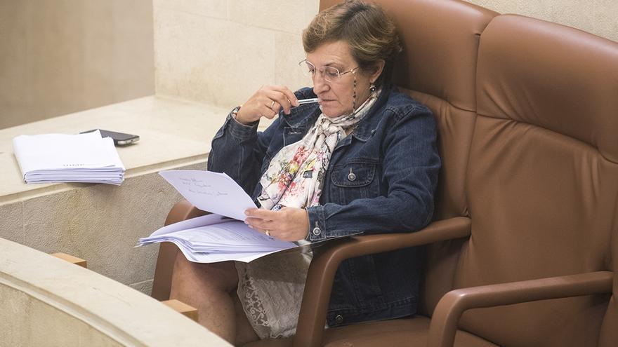María Luisa Real, en el Parlamento de Cantabria. | JOAQUÍN GÓMEZ SASTRE