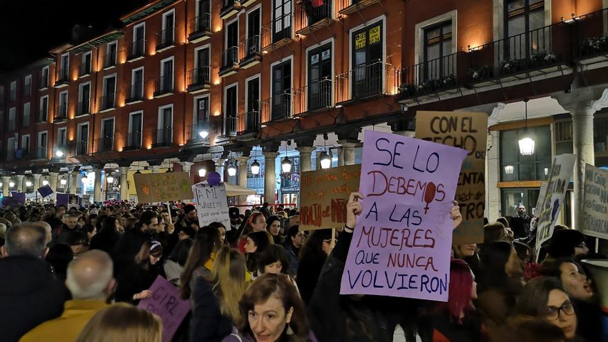 Manifestación del 8M en Valladolid.
