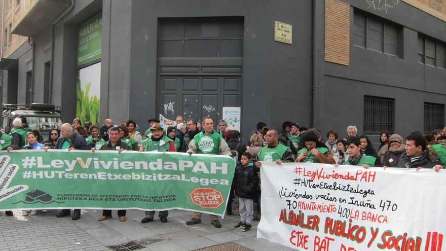 """La PAH pide un mayor parque de vivienda pública en alquiler """"asequible"""" en Navarra"""